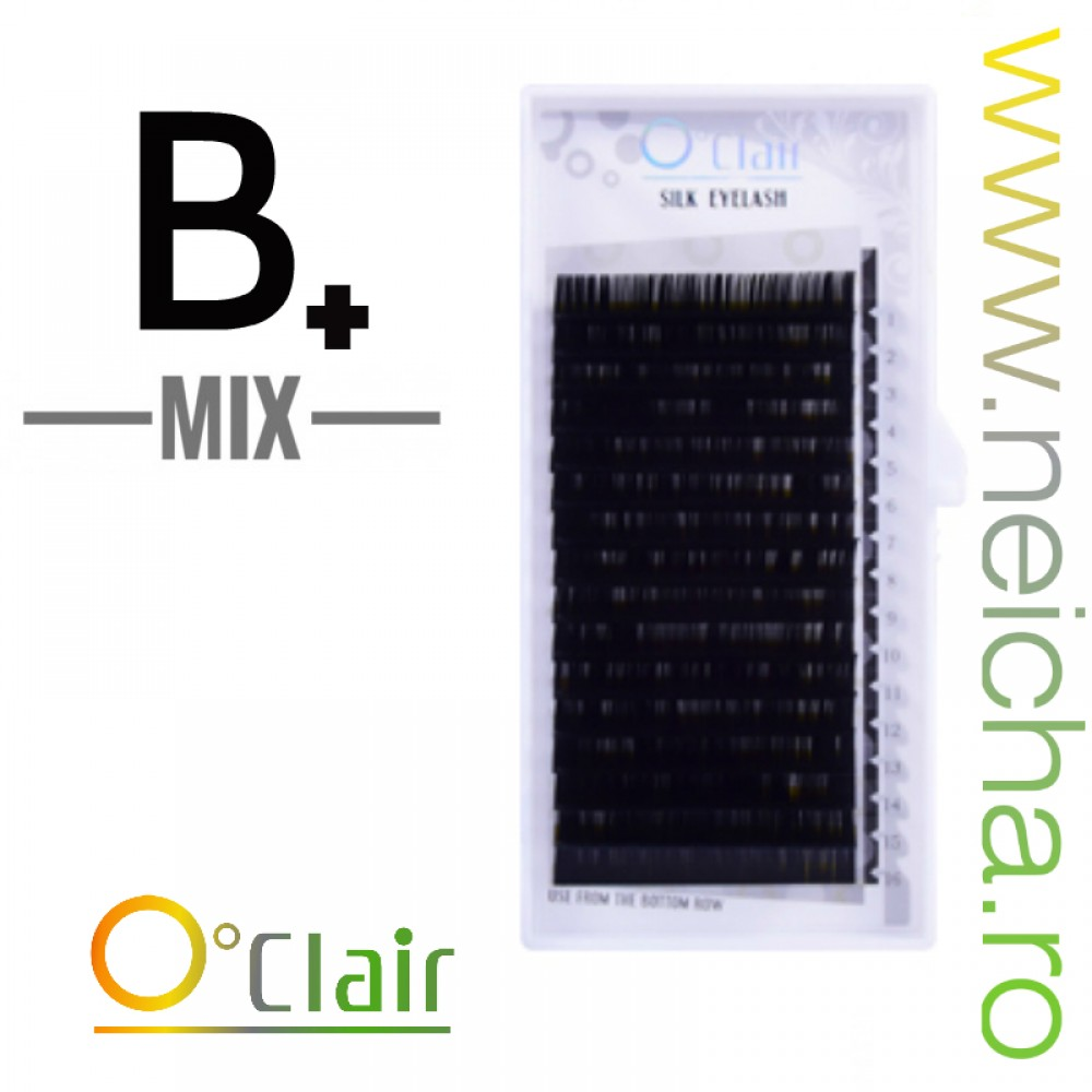 O'CLAIR SILK LASHES B+ MIX